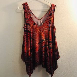 Free people tank with tie